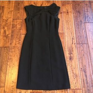 Tahari little black dress with bow detail size 4